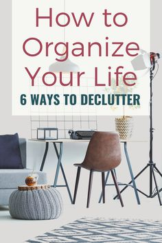 Ideas on how to cut the clutter, clean your space, different ways to declutter and hacks to simplify your life.