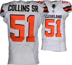 Jamie Collins Sr. Cleveland Browns Game-Used  51 White Jersey vs. Houston  Texans on December 2 b5a0a5392