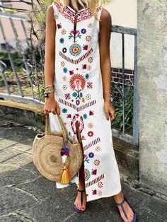 Popjulia Plus Μέγεθος V λαιμό Γυναικεία Λευκή φόρεμα μετακίνηση φόρεμα  φόρεμα ημέρας αμάνικο λυγισμένο Floral φόρεμα ea88c6f947a
