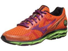 Mizuno Wave Rider 17 Women's Shoes Celosia/Purp/Grn