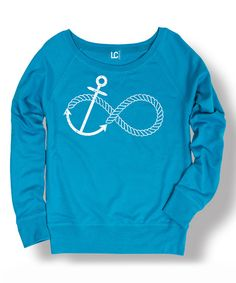 Look what I found on #zulily! Cobalt Infinity Knot Rope Anchor Sweatshirt by Board Life #zulilyfinds