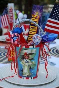 Party Favors Pail for 4th of July!