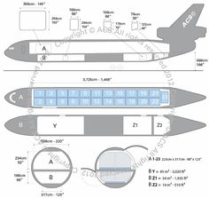 McDonnell Douglas DC-10F freighter diagram (ACS http://www.aircharterservice.com/)