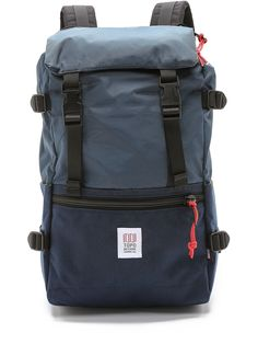 Topo Designs Men s Rover Pack, Navy, One Size. Lightweight backpack straps  with mesh backs. Zippered front and top pockets. Materials  Cordura fabric  outer ... e3211ac34f