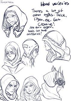 I've been asked a lot about how I draw hoods, mostly Talon's hood, so I hope this helps a little? Just a pretty basic thing but hey there ya go Hoods are pretty cool, they usually have a lot of...
