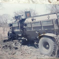 """I do beleive that this was the Command Casspir of """"Whisky Whisky"""" which hit a landmine Once Were Warriors, World Conflicts, Defence Force, Military Service, My Heritage, Cold War, Military Vehicles, South Africa, Monster Trucks"""
