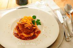 Cocina con Ana: OSSOBUCO DE CERDO EN SALSA CON TEXTURAS DE PATATA