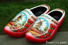 Wooden shoes made for the Keukenhof, one of the most pretty places of flower display
