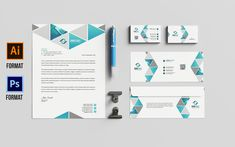 Stationery Design Corporate Identity Template Letterhead Design, Stationery Design, Corporate Identity Design, W Logos, Folder Design, Text Fonts, Business Card Design, Templates, Letterhead