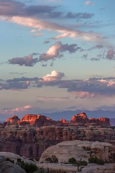 A spectacular #sunset over the Doll House @CanyonlandsNPS in #Utah