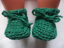 Babyschuhe gestrickt 50/56 Schurwolle Schuhe Wolle