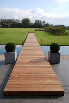Beautiful and Delightful Garden Bridge Ideas - Page 92 of 110 Outdoor Fun, Outdoor Spaces, Outdoor Living, Outdoor Decor, Landscape Architecture, Landscape Design, Garden Design, Exterior Cladding, Contemporary Landscape