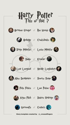 Template Instastory Harry Potter l This or that ? #instagram #story #template #harrypotter