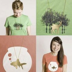 Perfect match of the shirt and necklace