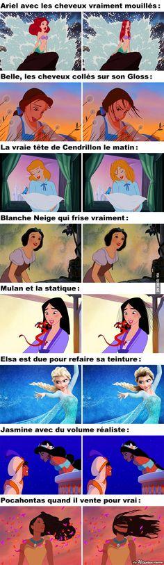 Si les Princesses de Disney avaient les Cheveux Réalistes – Québec Meme +