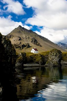 Arnarstapi,a small fisher village at Snæfellsnes,Iceland