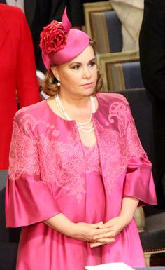 Grand Duchess Maria Teresa, June 23, 2014 in Philip Treacy | Royal Hats...Luxembourg National Day...Posted on June 25, 2014 by HatQueen