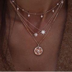 Cute Jewelry, Jewelry Accessories, Women Jewelry, Jewelry Design, Jewelry Shop, Pretty Necklaces, Gold Jewelry, Star Jewelry, Beautiful Necklaces