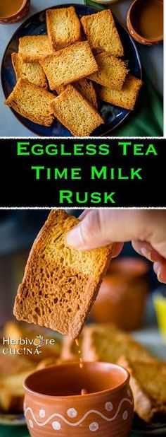 an amazing tea time snack can now be made at home using this recipe. Dunk one in Masala Chai and you WILL finish a dozen I promise! Eggless Recipes, Eggless Baking, Savoury Baking, Healthy Baking, Tea Rusk Recipe, Indian Snacks, Indian Food Recipes, African Recipes, Breakfast Recipes