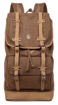Canvas Travel Laptop School Backpack - Premium Quality