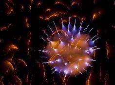 Unusual Long Exposure Photo of Fireworks