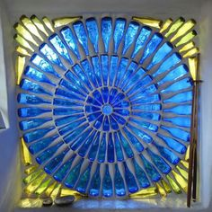 Bottle window - I would use this as an indoor feature, maybe room separation.  It would make a very drafty window