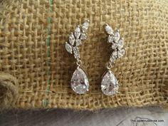 Cubic Zirconia Cluster Bridal Earring