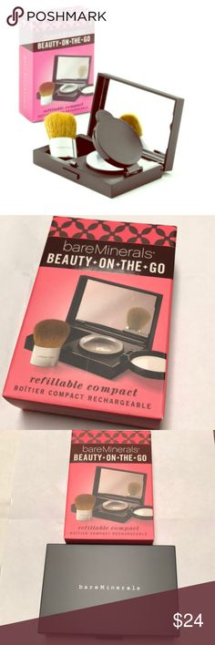 bareMinerals Beauty-On-The-Go Refillable compact perfect for your mineral makeup. Brand new still in box. NWT. bareMinerals Makeup Brushes & Tools