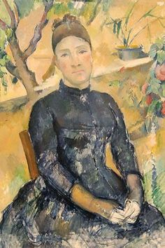 Madame Cézanne (née Hortense Fiquet, 1850–1922) in the Conservatory