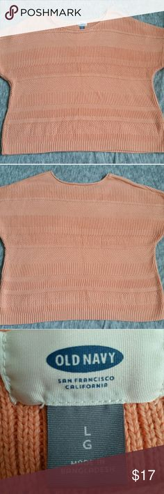 Old Navy Peach Knit Top Old Navy peach knit top Fantastic condition! Only worn and washed once! Size: L/G Old Navy Tops Blouses