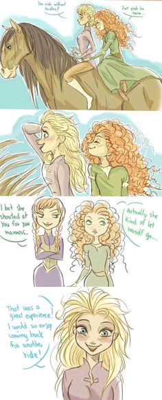 Elsa and Merida