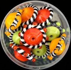 9 Lampwork Beads