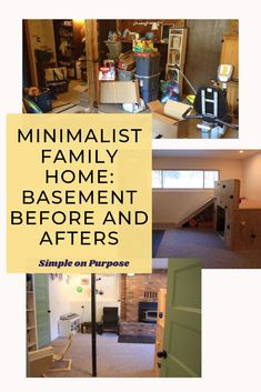 Minimalism has changed our whole living space. Before minimalism, we had been filling our house with more and more stuff. Our home was used for storage and not for living the life we wanted. Basement Makeover, Basement Renovations, Home And Living, Home And Family, Declutter Your Life, Minimal Home, Create Space, Keep It Simple, Easy Diy Crafts