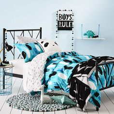 Archie Jersey Quilted Quilt Cover Set