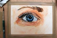 Painting Realistic Eyes w/Acrylics