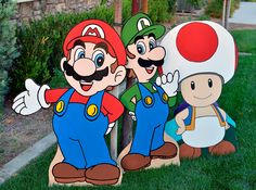 No need to turn on the Nintendo to receive the Mushroom Kingdom experience. These cutouts of the Italian plumber and his friends will give themed parties an extra power up and can spawn a unique home decoration for the avid gamer. #nintendo #supermario