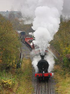 The Steam Train near the house on Railway Street