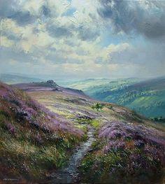 scottish art | September Heather, Hathersage Moor: