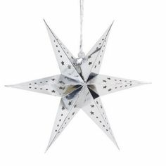 Paper Star Lantern Silver & White Color For Window Wedding Birthday Festival Decoration Hanging Christmas Ornaments New Years Decorations, Festival Decorations, Christmas Decorations, Christmas Ornaments, Paper Star Lanterns, Lanterns Decor, Unique Symbols, Hanging Stars, Silver Paper