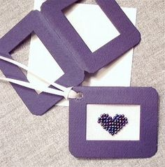 How To Make a Gift Tag with a Purchased Paper Frame: Cross Stitch Gift Tag Mint Tins, Paper Frames, Jar Lids, Make A Gift, Gift Tags, Cross Stitch, Stress, Gift Wrapping, Projects