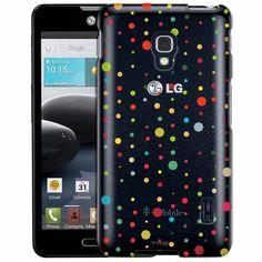 LG Optimus F6 Octagon Polka Dots Clear Case