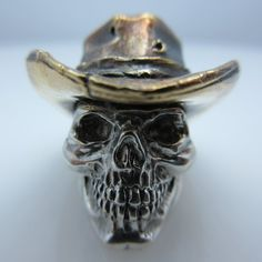 $150.00 Cowboy in .925 Sterling Silver and Bronze by GD Skulls