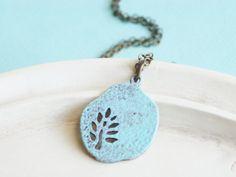 Minimal Jewelry Simple Fern Necklace by linkeldesigns on Etsy