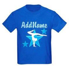 Cafepress Personalized Champion Gymnast Kids Dark T-Shirt, Boy's, Size: Kids Small, Blue