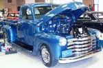 Aqua blue 1950's truck.