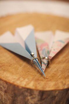 Cute and simple #wedding #rings #paper