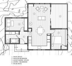 I could live in this 840 sf modern rustic redwoods cottage cabin by cathy schwabe 0013 840 Sq. Modern and Rustic Small Cabin in the Redwoods Small House Floor Plans, Cabin Floor Plans, Rustic House Plans, Craftsman House Plans, The Plan, How To Plan, Plan Plan, Cottage Plan, Wood Cottage