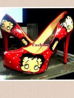 Betty Boop shoes - I probably wouldn't be able to walk in them but I want a pair :O)
