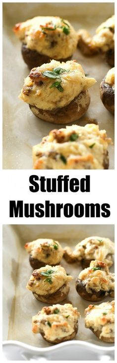 These Stuffed Mushrooms are always on our table at every holiday. One of our favorite appetizers and gluten-free! the-girl-who-ate-everything.com