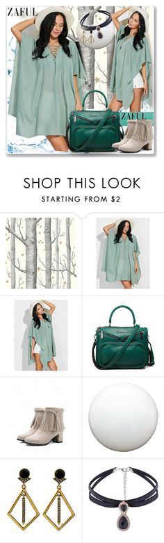 """""""Poncho Dress-zaful.com"""" by ane-twist ❤ liked on Polyvore featuring Cole & Son"""